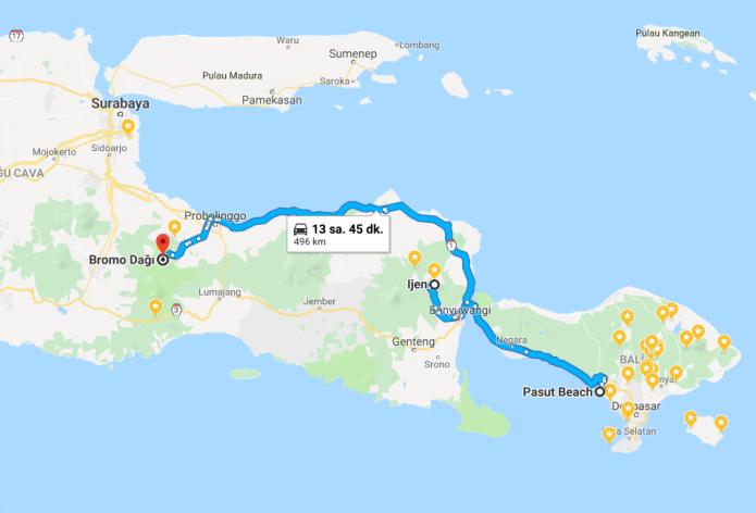bromo map
